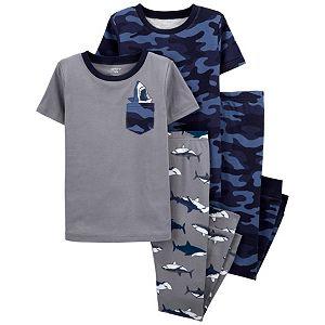 Boys 4-14 Carter's Shark Camo Tops & Bottoms Pajama Set