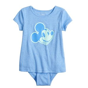 Disney's Mickey Mouse Girls 4-12 Adaptive Layered Bodysuit by Jumping Beans