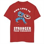 Boys 8-20 Marvel Captain America Valentines Day Graphic Tee