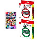 Nintendo Mario Kart with Mario & Luigi Deluxe Racing Wheel Game Bundle for Nintendo Switch