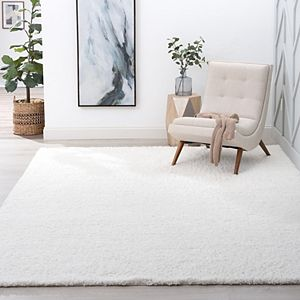 KHL Rugs Alana Transitional Solid Shag Area Rug