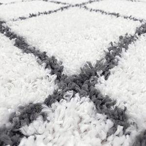 KHL Rugs Mira Contemporary Diamond Shag Area Rug