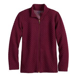 Women's Croft & Barrow Quilted Zip-Front Jacket