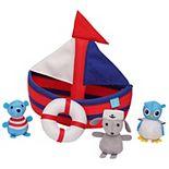 Manhattan Toy 4-Piece Sailboat Floating Spill n Fill Bath Toy