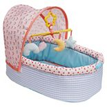"Manhattan Toy Stella Collection Soft Baby Doll Crib & Mobile for 12"" to 15"" Baby Dolls"