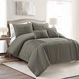 Lush Decor Arora Pleat Comforter Set with Shams