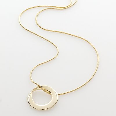 Trifari Twist Oval Pendant
