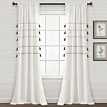 Lush Decor 2-pack Farmhouse Boho Tassel Window Curtain Set