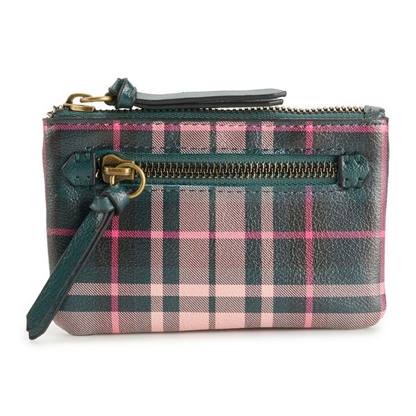 Sonoma Goods For Life® Arona RFID-Blocking Coin Pouch - Winter Plaid