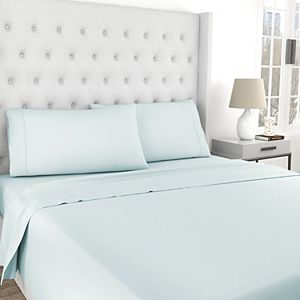 SensorPEDIC Epic Chill 300 Thread Count Cooling Cotton and Tencel Sheet Set with Pillowcases