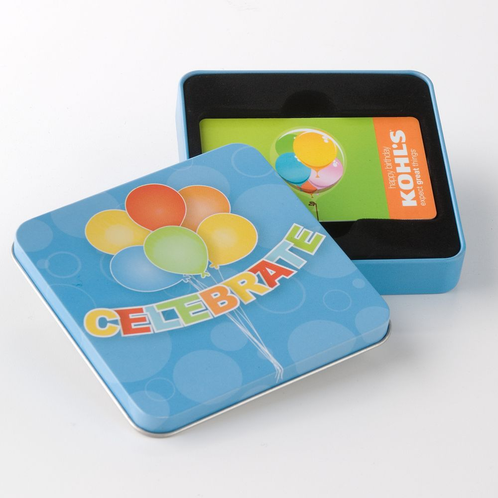 """Celebrate"" Balloon Gift Card Tin"