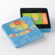 'Celebrate' Balloon Gift Card Tin