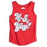Girls 4-12 Jumping Beans® Patriotic Twist-Back Tank