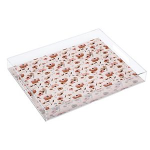 Society6 Acrylic Tray - Farmhouse Floral Pink by Alison Janssen