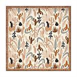 Society6 Square Tray - Cactaceae Cream by Iveta Abolina