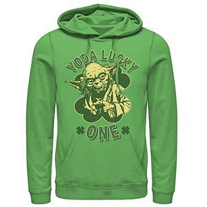 Men's Star Wars Yoda Lucky One Retro St Patrick's Day Hoodie