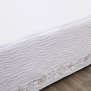 Greenland Home Fashions Coastal Seashell Bedskirt