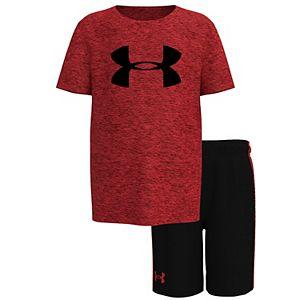 Toddler Boy Under Armour Twist Logo Tee & Shorts Set