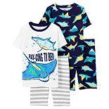 Boys 4-14 Carter's Stingray Tops & Shorts Pajama Set