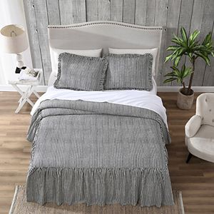 Hawthorne Park Ticking Stripe Bedspread Set with Shams