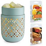 Candle Warmers Etc. Soft Mint Illumination Fragrance Warmer Bundle With 2 Wax Melts