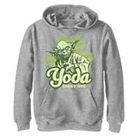 Boys 8-20 Star Wars Yoda Lucky One Clover St Patrick's Day Graphic Fleece Hoodie