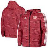 Men's adidas Red Manchester United Full-Zip Windbreaker Jacket