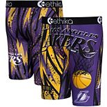 Men's Ethika Purple Los Angeles Lakers Classic Boxer Briefs