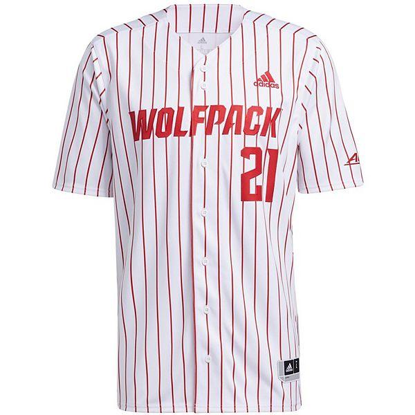 Men's adidas White NC State Wolfpack Replica Baseball Jersey