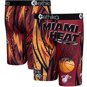 Youth Ethika Red Miami Heat Classic Boxer Briefs