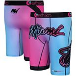 Youth Ethika Pink/Blue Miami Heat City Edition Boxer Briefs