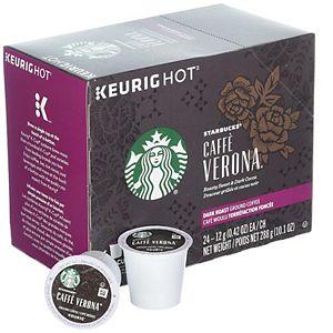 Starbucks Cafe Verona Coffee, Keurig® K-Cup® Pods, Dark Roast, 24 Count