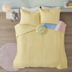 Urban Habitat Kids' Jessie Rainbow Sunburst Reversible Cotton Coverlet Set