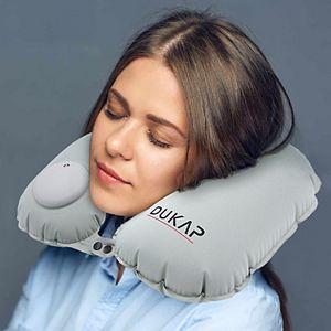 Dukap Auto Inflatable Air Pump Neck Travel Pillow