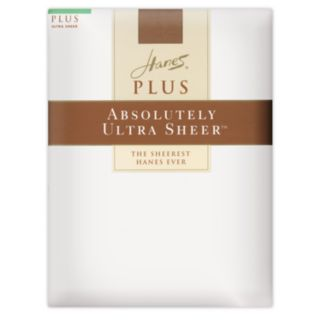 Hanes Absolutely Ultra Sheer Control-Top Pantyhose - Plus