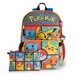"Pokemon 5-Piece 16"" Backpack Set"