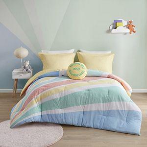 Urban Habitat Kids' Jessie Rainbow Sunburst Reversible Cotton Comforter Set with Shams
