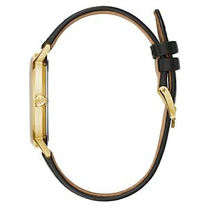 Bulova Men's Black Leather Strap Watch - 97A149