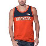Men's Starter Orange/Navy Denver Broncos Touchdown Fashion Tank Top