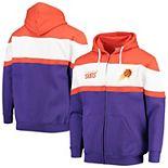 Men's Fanatics Branded Orange/Purple Phoenix Suns Colorblock Wordmark Full-Zip Hoodie