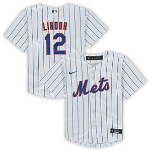 Toddler Nike Francisco Lindor White New York Mets Home 2020 Replica Player Jersey