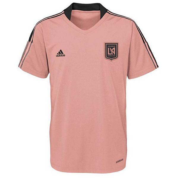 Youth adidas Pink LAFC 2021 AEROREADY Training Jersey