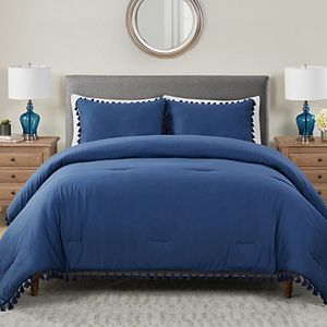 Avery HomeGrown Cotton Lyocell Tassels Comforter Set with Shams