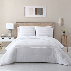 Avery HomeGrown Cotton Lyocell Pleated Comforter Set with Shams