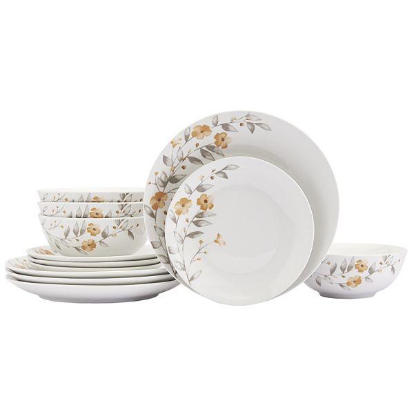 12-Pieces The Big One Warm Floral Dinnerware Set + $5 Kohls Cash