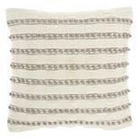 Mina Victory Life Styles Woven Lines and Dots Throw Pillow