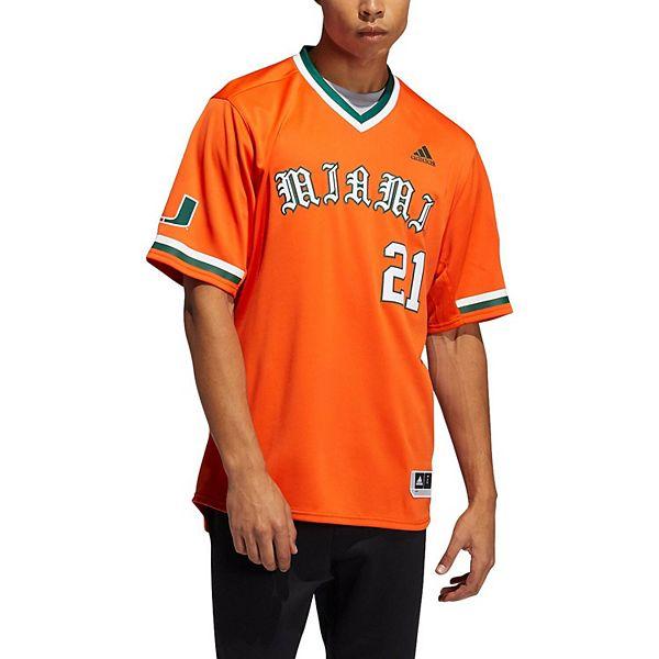 Men's adidas Orange Miami Hurricanes Replica Baseball Jersey
