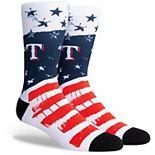 Texas Rangers Stars N' Bars Crew Socks