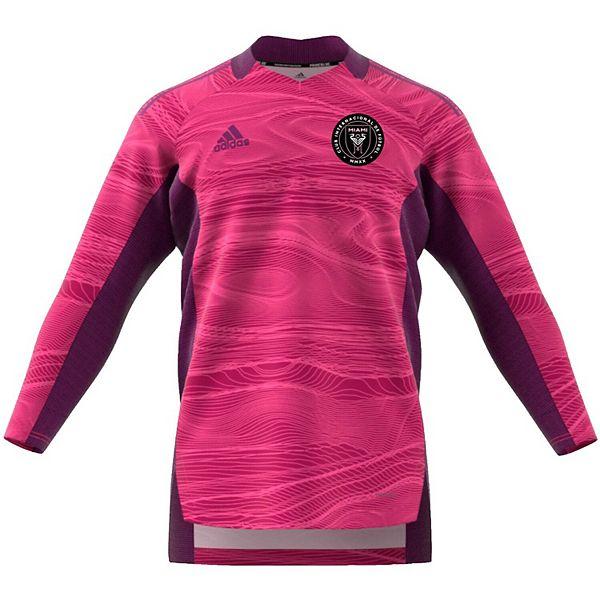 Men's adidas Pink Inter Miami CF 2021 Goalkeeper Long Sleeve Jersey