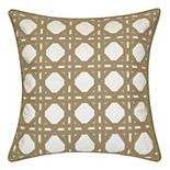 Edie@Home Indoor Outdoor Rattan Geometric Throw Pillow